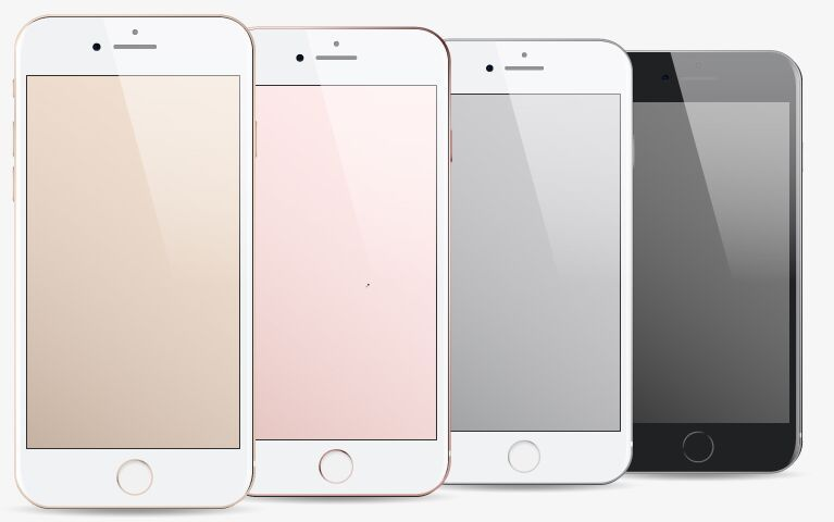 767x480 Free Iphone 7 Vector Templates