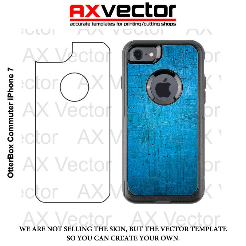 800x800 Otterbox Commuter Iphone 7 Vector Template, Contour Cut File
