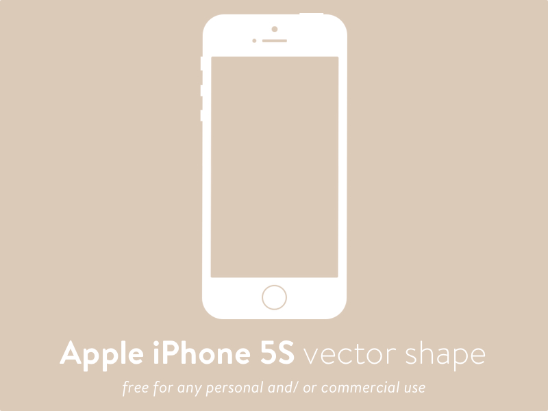 800x600 Apple Iphone 5s Vector Shape Sketch Freebie