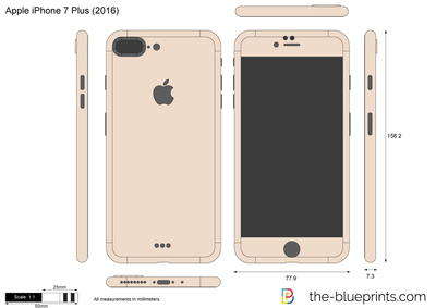 400x283 Apple Iphone 7 Plus Vector Drawing
