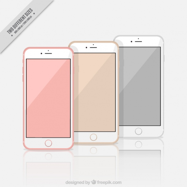626x626 Background Of Three Stylish Iphone 7 Vector Free Download