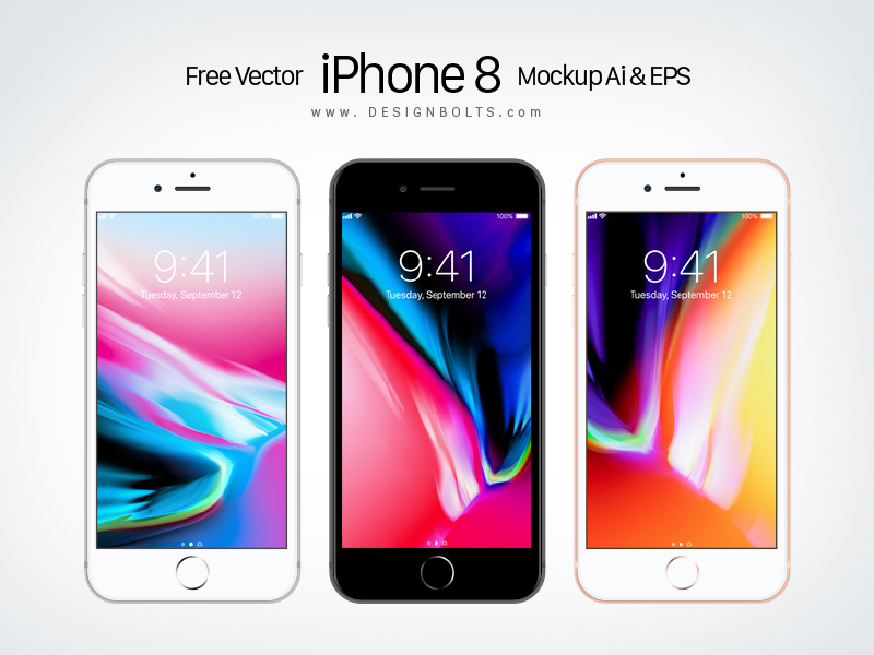 800x600 Free Vector Apple Iphone 8 Mockup Ai Amp Eps By Zee Que