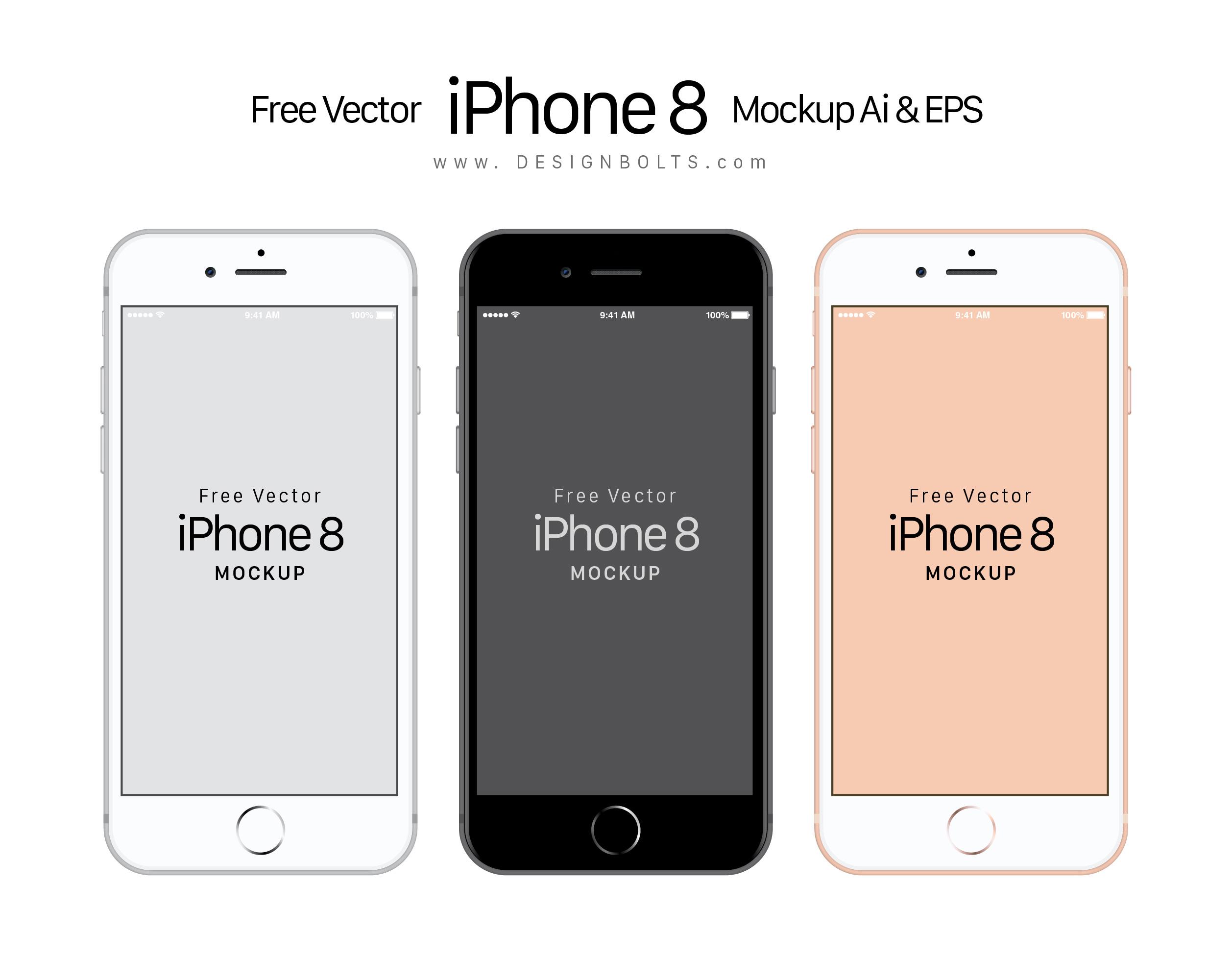 2515x1997 Free Vector Apple Iphone 8 Mockup Ai Amp Eps