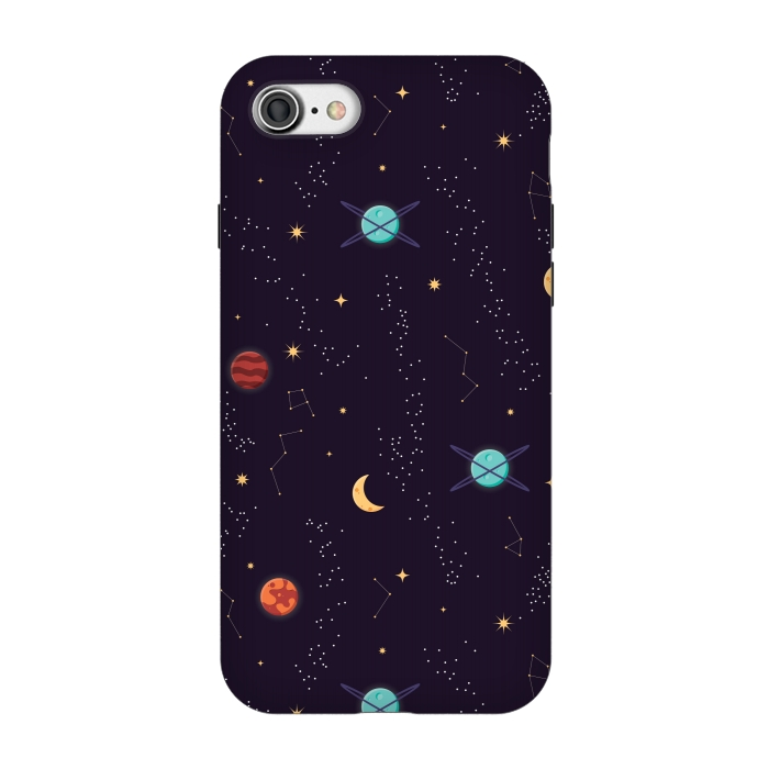 700x700 Universe With Planets And Stars Seamless Pattern, Cosmos Starry