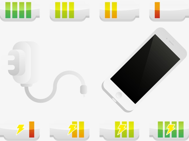 650x486 Iphone Battery Charge And Various State, Vector, Phone, Iphone Png