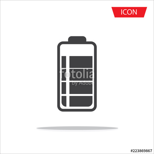 500x500 Battery Icon Vector Isolated On White Background. Stock Image And