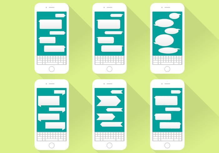 700x490 Imessage Conversation Icons Iphone Flat Illustration