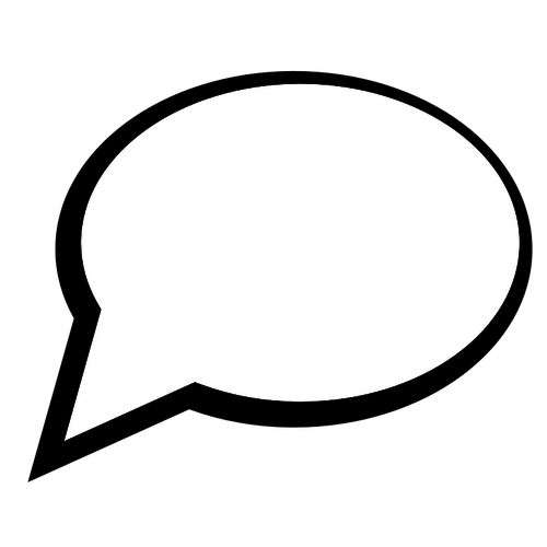 500x500 Speech Bubble Vector