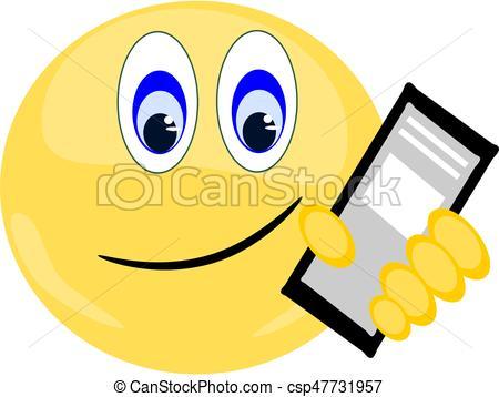 450x358 Emoji Smiling Holding Iphone. Emoji Smiling Holding Phone