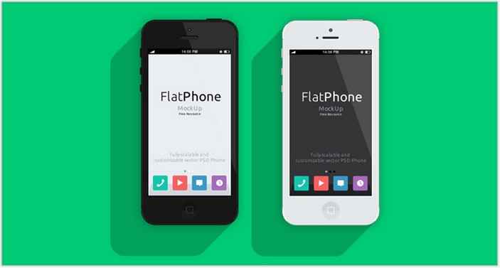 Iphone Flat Vector