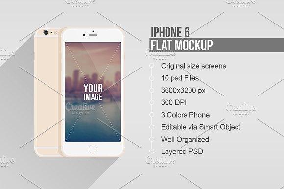 580x386 Flat Iphone 6 And 6 Plus Vector Mockup Mockup Store