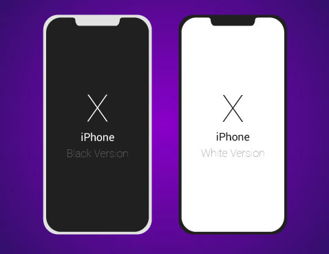 478x369 Iphone Vector Template Free Flat Dark Light Iphone X Vector