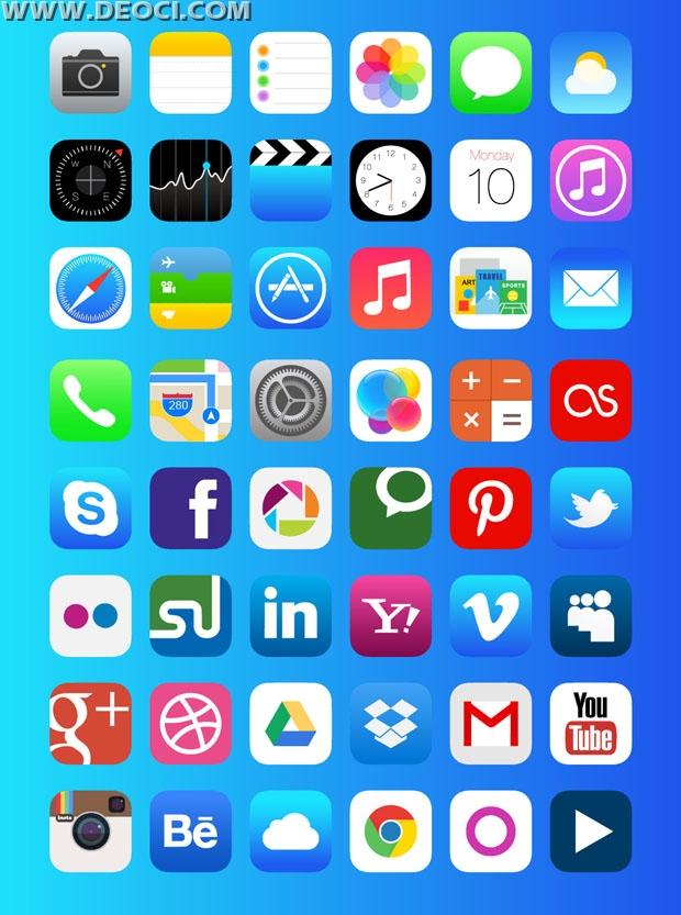 620x833 Iphone Ios7 New Icons Set Ai Meta Downloads