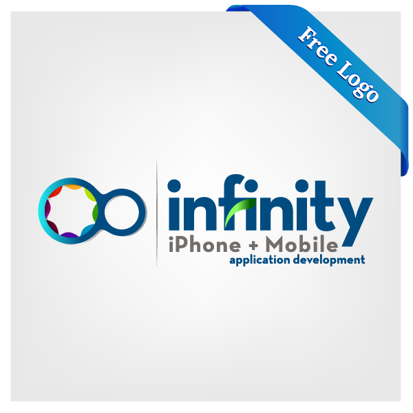 600x600 Free Vector Infinity Iphone + Mobile Application Development Logo