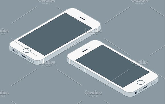 580x366 Iphone Flat Mockup Vector Mockup Store