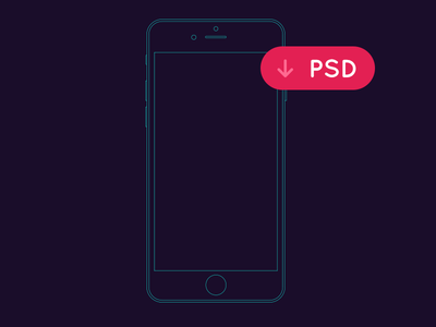 400x300 Free Iphone Outline Mockup For Wireframing (Vector Ai And Psd