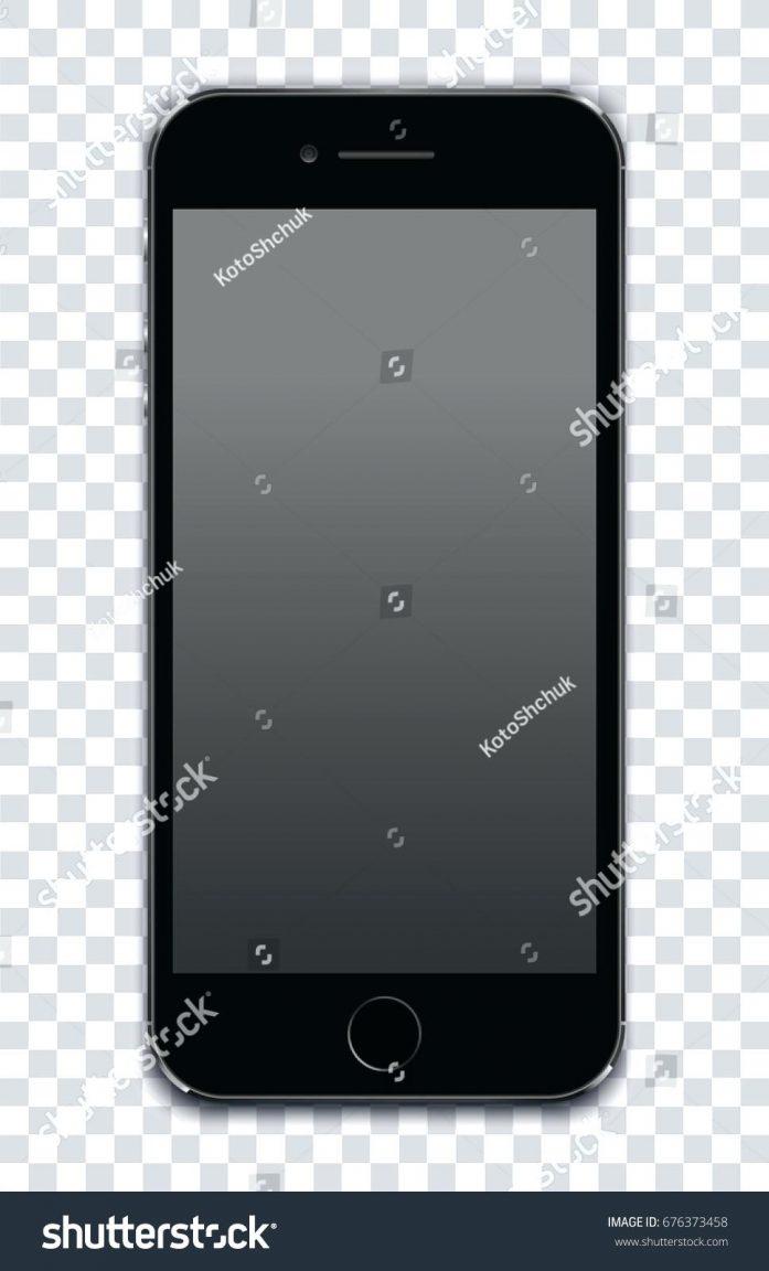 697x1152 Iphone 5 Screen Black Black Smart Phone Apple 5 Stock Vector Black
