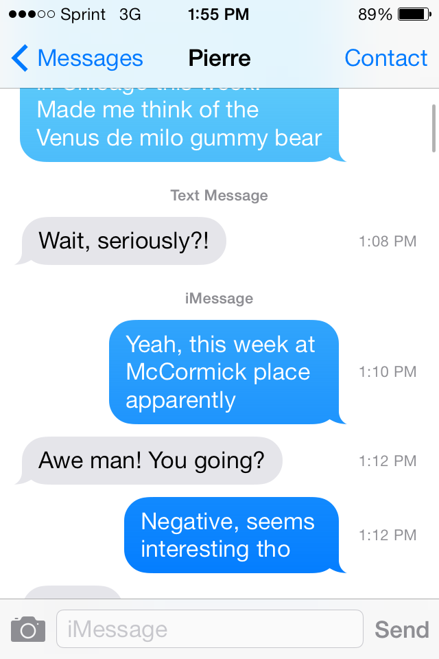 640x960 Ios 7 See The Timestamp On Every Messages Bubble