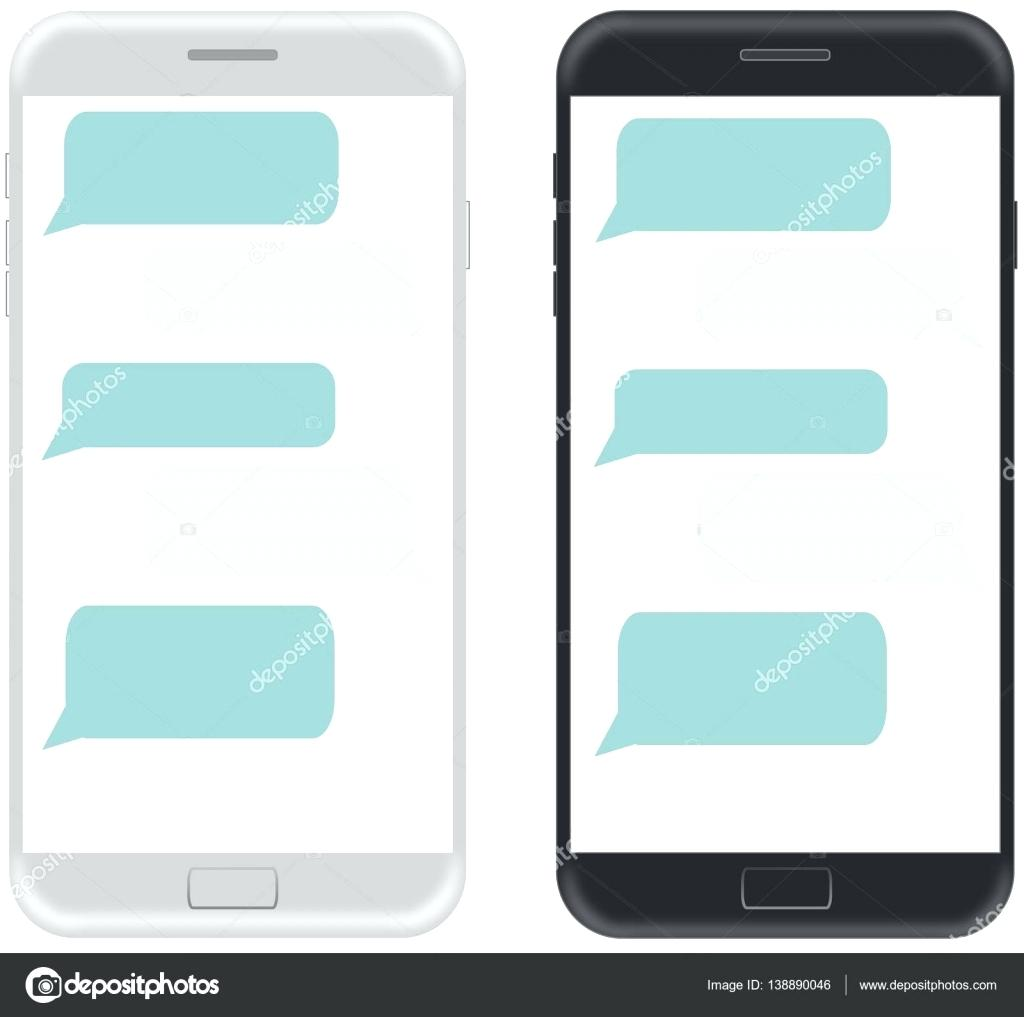 1024x1017 Template Iphone Text Message Template Stock Vector Illustration