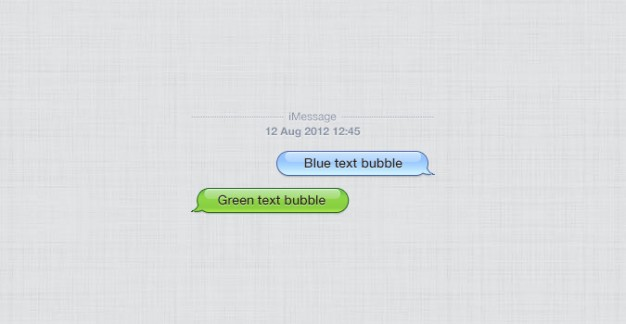 626x324 Apple Iphone Chat Bubbles Psd Psd File Free Download