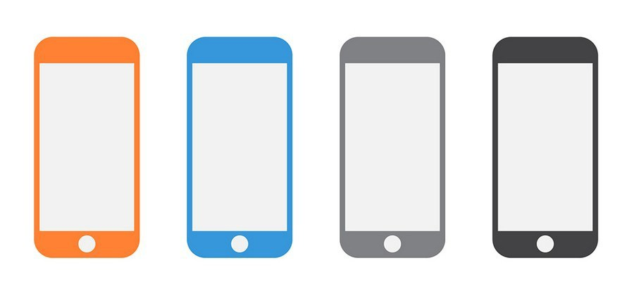 900x421 Free Iphone Vector Shapes