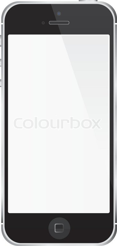 381x800 White Smart Phone, Iphone, Cell Phone Vector Illustration