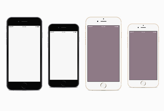 650x442 Iphone 6 And Iphone 6 Plus Vector Mockups