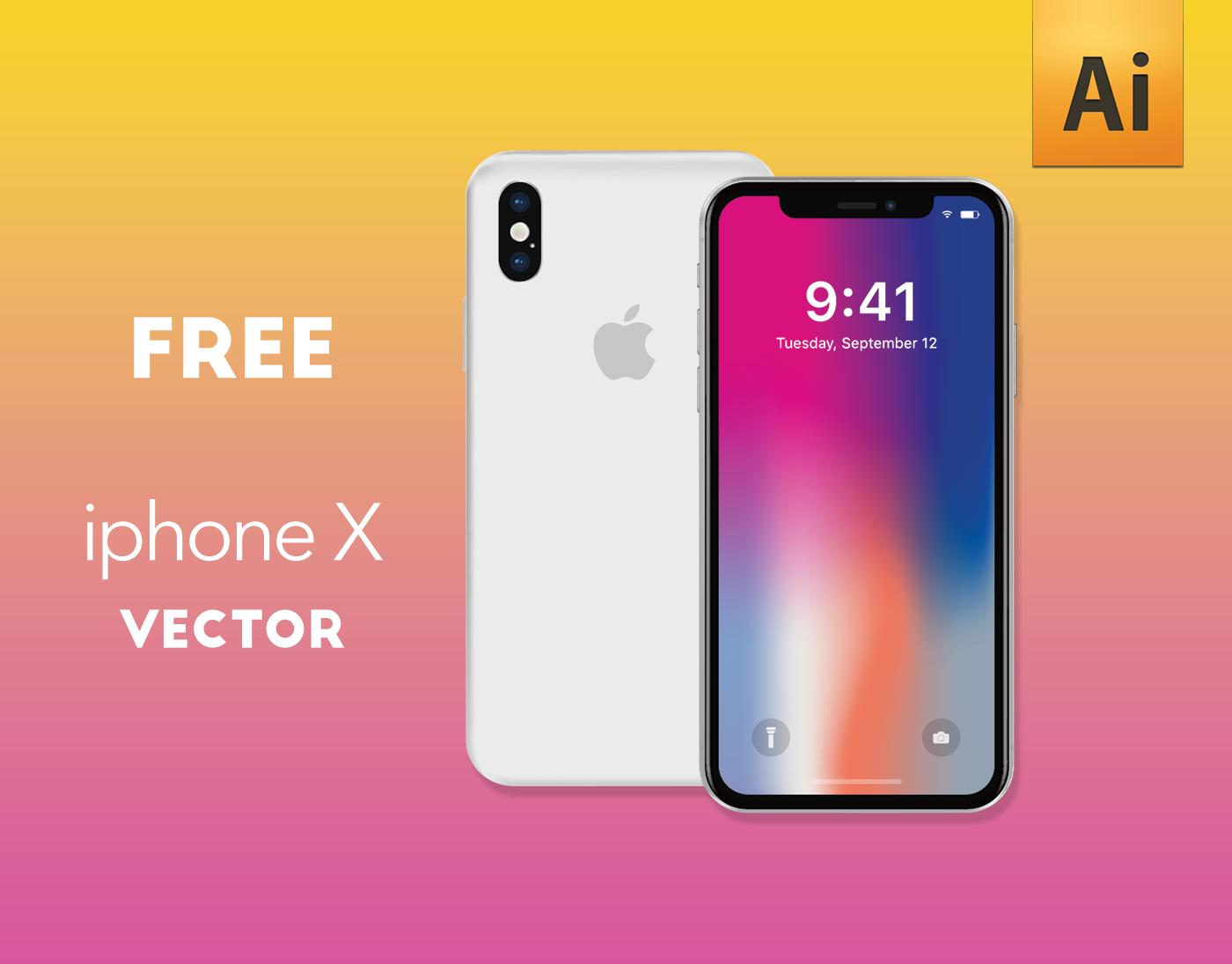 1400x1095 Iphone X Vector Free (Ai) On Behance
