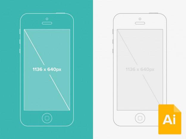 625x468 Illustrator Iphone 5 Wireframe Mockup