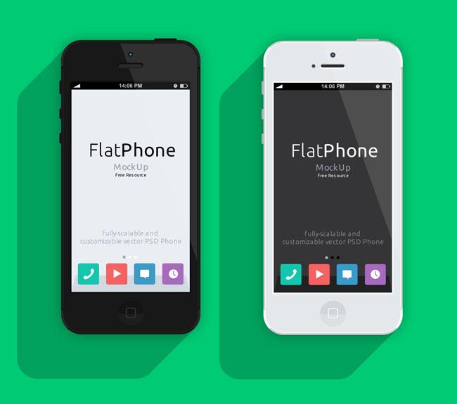 650x575 Iphone 5 Psd Flat Design Mockup