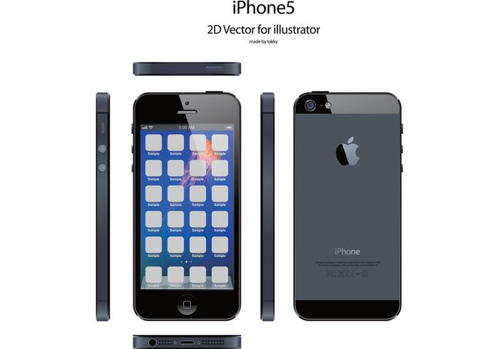 700x490 Iphone5 Free Vector For Illustrator
