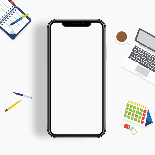640x640 Iphone X Vector Mockup, Iphone, Vector, Mockup Png And Vector For