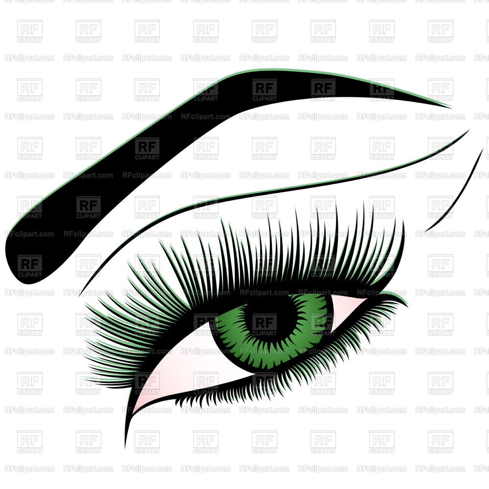 1000x1000 Human Eye With Green Iris Vector Image Vector Artwork Of Beauty