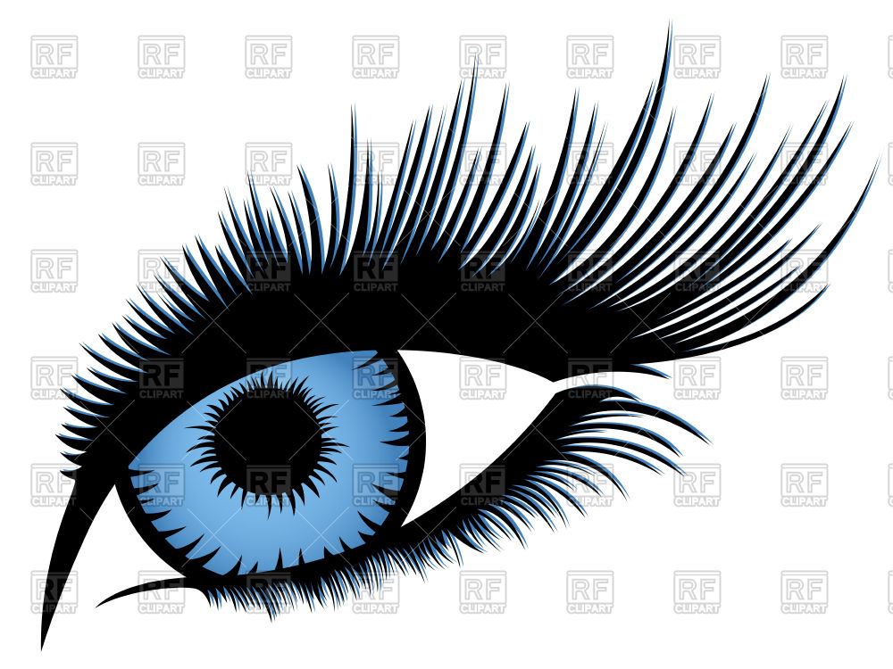 1000x750 Abstract Human Eye With Long Eyelashes And With Blue Gradient Iris