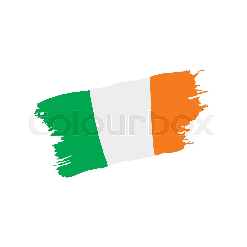 800x800 Ireland Flag, Vector Illustration On A White Background Stock