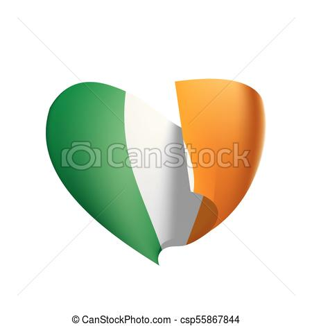 450x470 Ireland Flag, Vector Illustration On A White Background Eps Vector