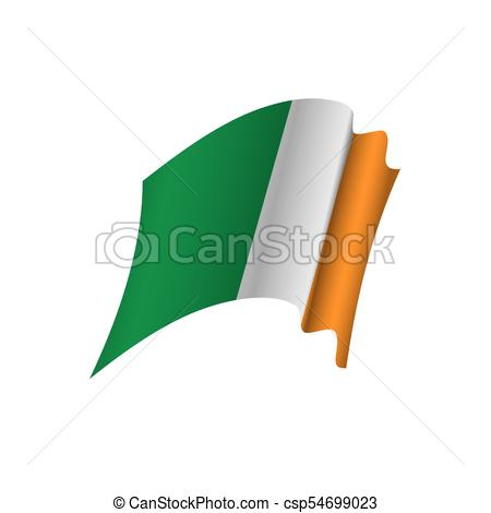 450x470 Ireland Flag, Vector Illustration On A White Background Vector