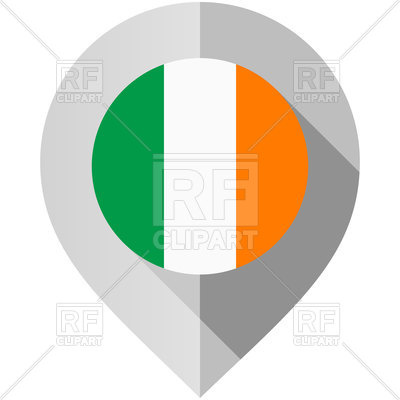 400x400 Map Pin With Ireland Flag Vector Image Vector Artwork Of Flags