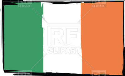 400x243 Grunge Ireland Flag Vector Image Vector Artwork Of Flags