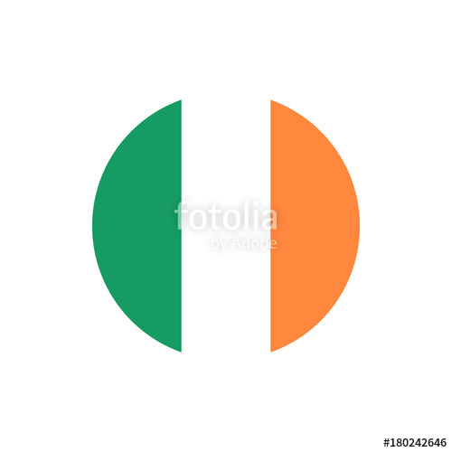 500x500 Ireland Flag, Official Colors And Proportion Correctly. National
