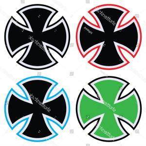 300x300 Iron Cross Independent Logo Template Vector Stock Vector Iron