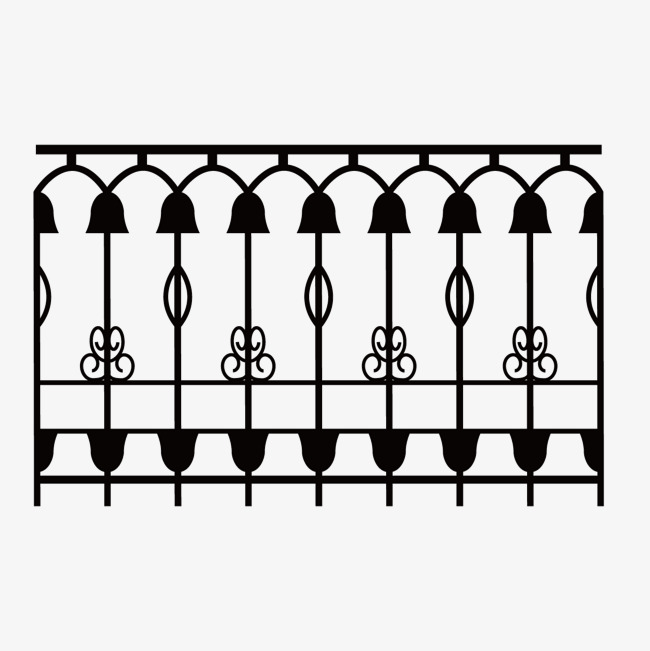 650x651 Vector Black Print Iron Fence, Black Vector, Vector, Black Png And