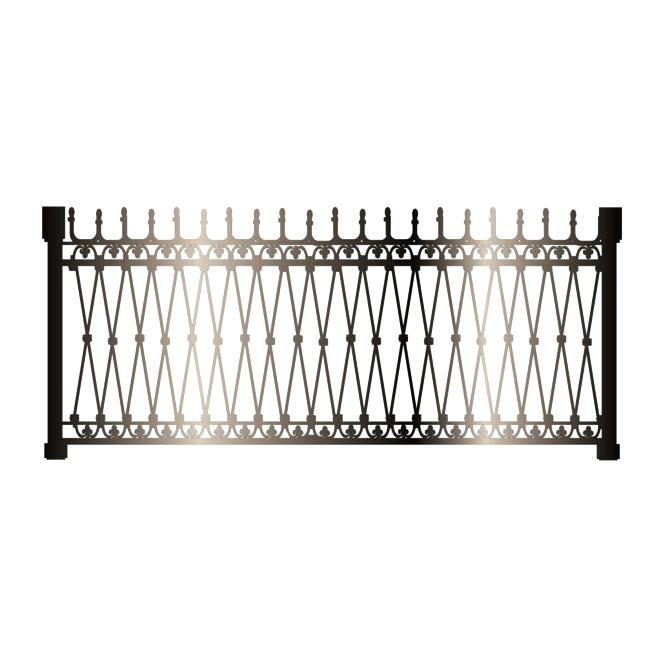 650x651 Black Iron Fence Black Iron Fence Vector Intersecting Lines Vector