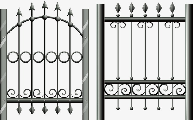 650x405 Vector Iron Fence, Iron Fence, Fence, Cartoon Fence Png And Vector