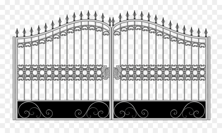 900x540 Download Gate Fence Wrought Iron Iron Railing Vector Material Iron