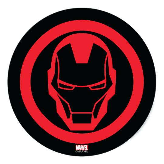 540x540 Iron Man Logo Invincible Iron Man Classic Round Sticker Iron Man