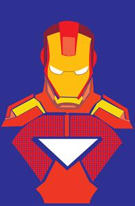 197x300 Iron Man Logo Vector (.eps) Free Download