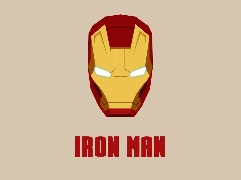 800x600 Iron Man Vector Edition By Mathieu