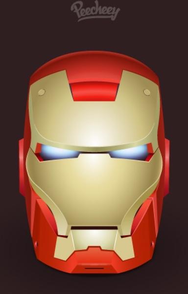 384x600 Iron Man Icon Free Vector In Adobe Illustrator Ai ( .ai ) Vector