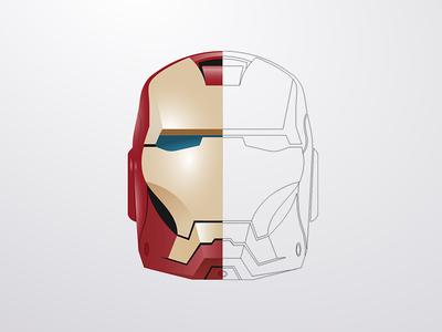 400x300 Iron Man Vector Mask